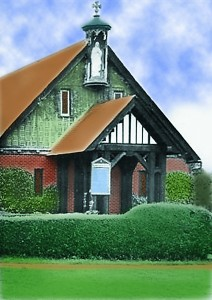 colorized church